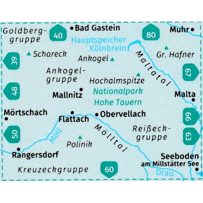 Hohe Tauern Karte.Hohe Tauern National Park South Mallnitz Obervellach Maltatal Molltal Kompass Hiking Map 49