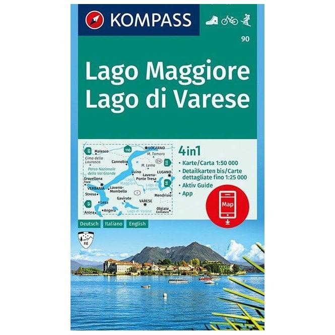 Verbania Lago Maggiore Karte.Lake Maggiore Lake Varese Kompass Hiking Map 90