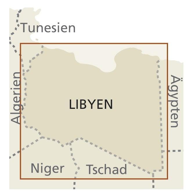 Libya Map - Reise Know-How