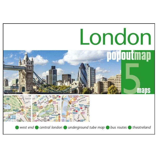 London City Centre Map.London Popout Map Double