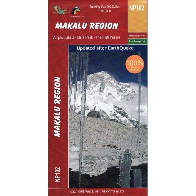 Makalu Region Nepal Trekking Map Np102
