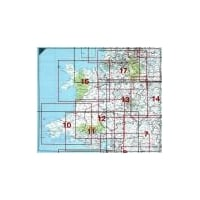 Postcode District 03 Laminated Wall Map: Wales & The Midlands