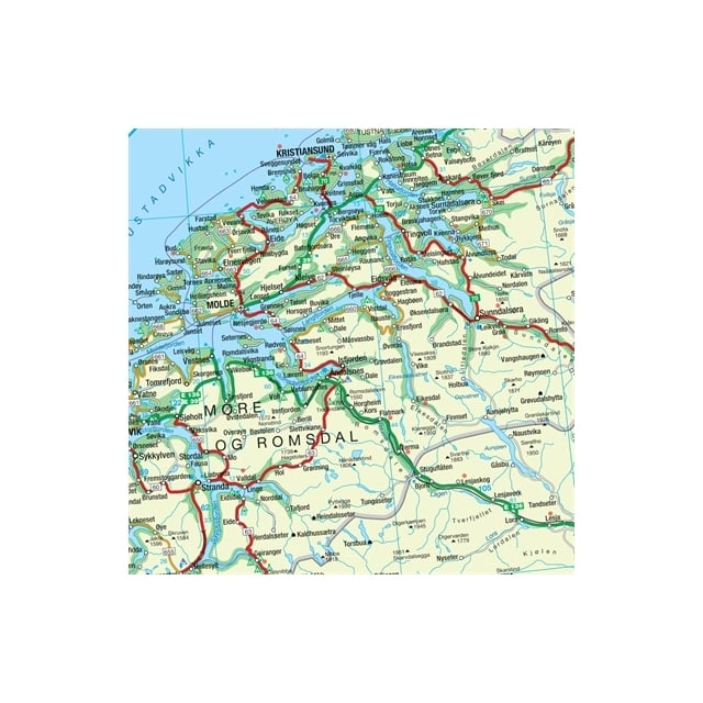 Norway Politcal Laminated Wall Map