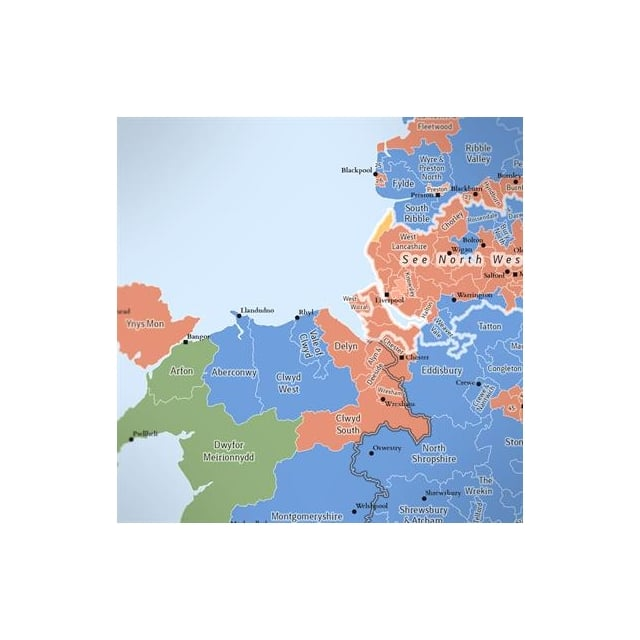 Map Of Uk Parliamentary Constituencies.Uk Parliamentary Constituency Boundary Wall Map Laminated