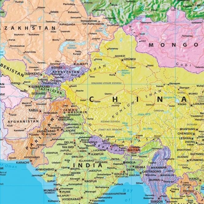 World Political Map Mural Wallpaper