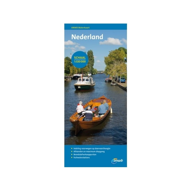 Map of Inland Waterways of the Netherlands