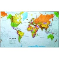 World maps 120 million world wall map laminated without flags gumiabroncs Images