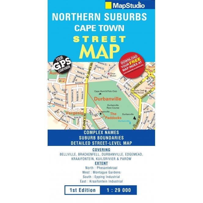 Northern Suburbs Cape Town Street Map - published by Map Studio