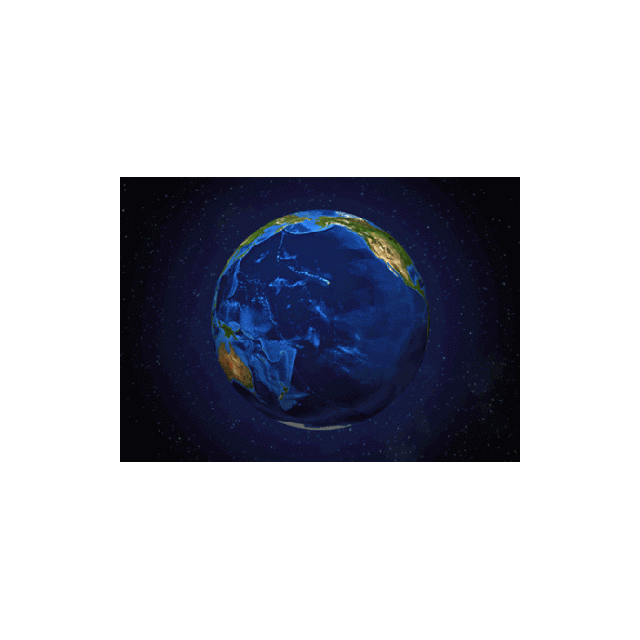 Turning Earth 3D Postcard