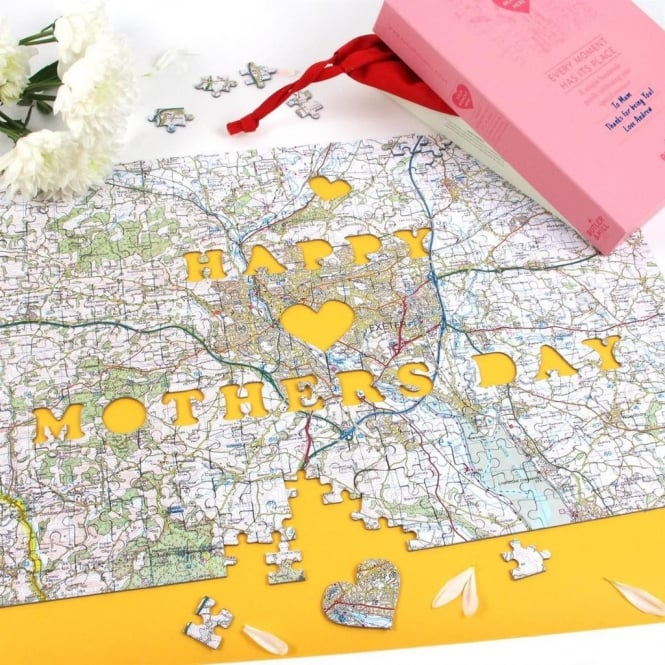 Mother's Day Personalised Map Jigsaw Puzzle