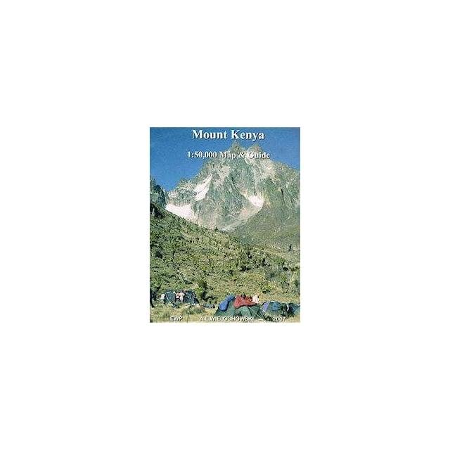 Mount Kenya Map & Guide - Africa from Maps Worldwide UK