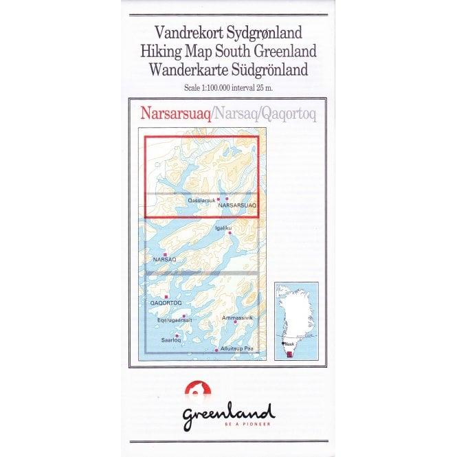 Narsarsuaq: South Greenland Hiking Map No. 01 (1:100 000)