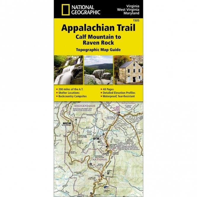 Appalachian Trail, Calf Mountain to Raven Rock [Virginia, West Virginia,  Maryland] Trail Map - Nat Geo 1505