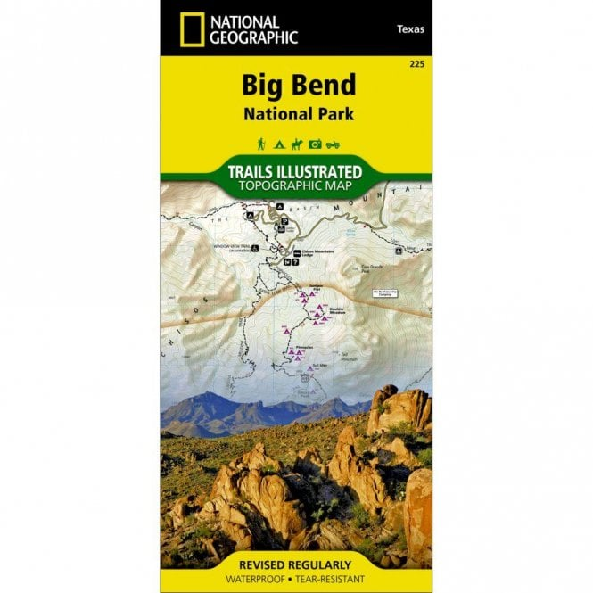 Big Bend National Park Trail Map - Nat Geo 225