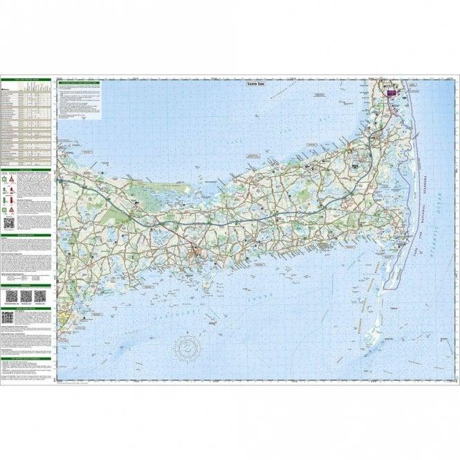 Cape Cod Trail Map - Nat Geo 250