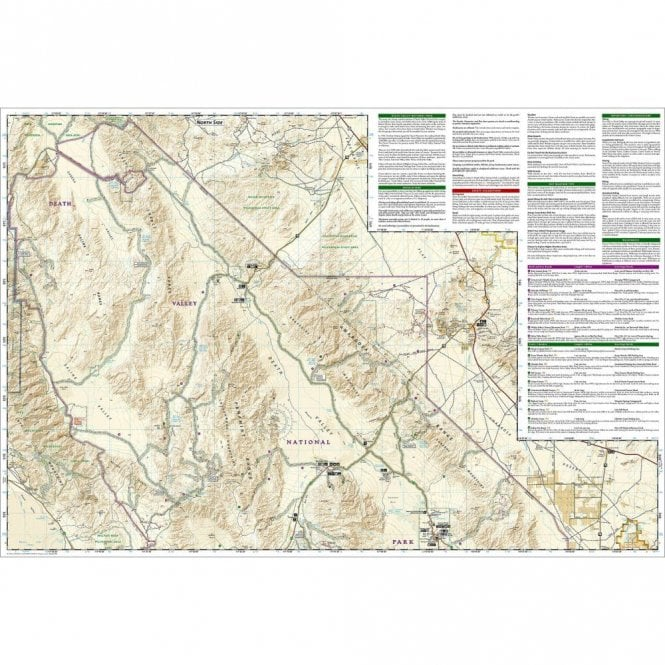 Death Valley National Park Trail Map - Nat Geo 221