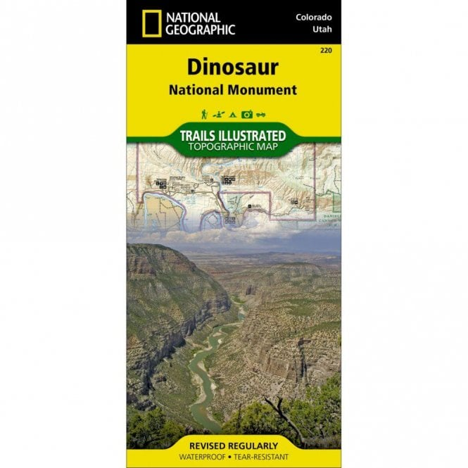 Dinosaur National Monument Trail Map - Nat Geo 220
