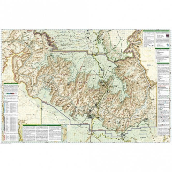 Grand Canyon East [Grand Canyon National Park] Trail Map - Nat Geo 262