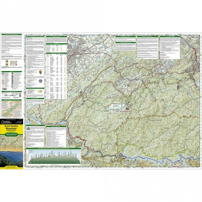 Great Smoky Mountains National Park Trail Map - Nat Geo 229