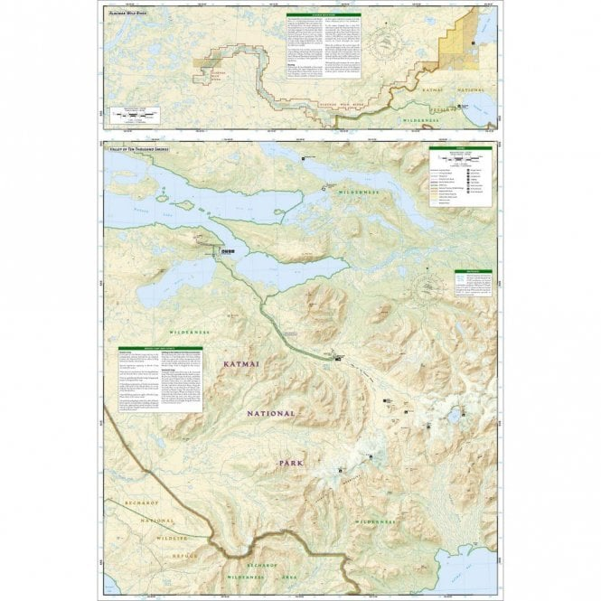 Katmai National Park and Preserve Trail Map - Nat Geo 248