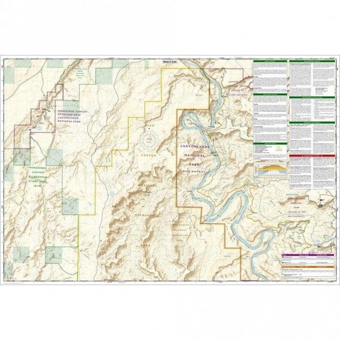 Maze District: Canyonlands National Park Trail Map - Nat Geo 312