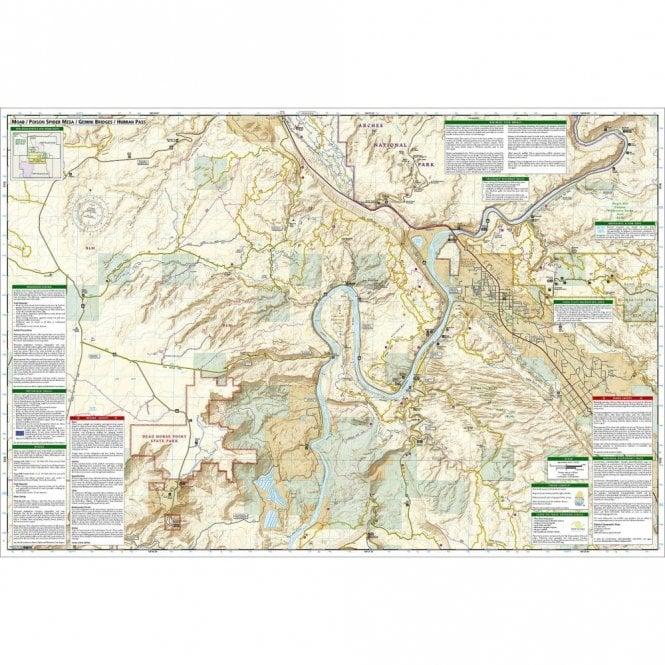 Moab South Trail Map - Nat Geo 501