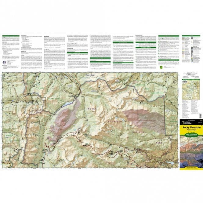 Rocky Mountain National Park Trail Map - Nat Geo 200