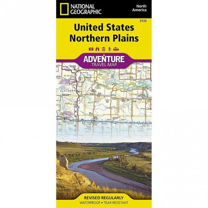 United States, Northern Plains Adventure Map - Nat Geo 3122