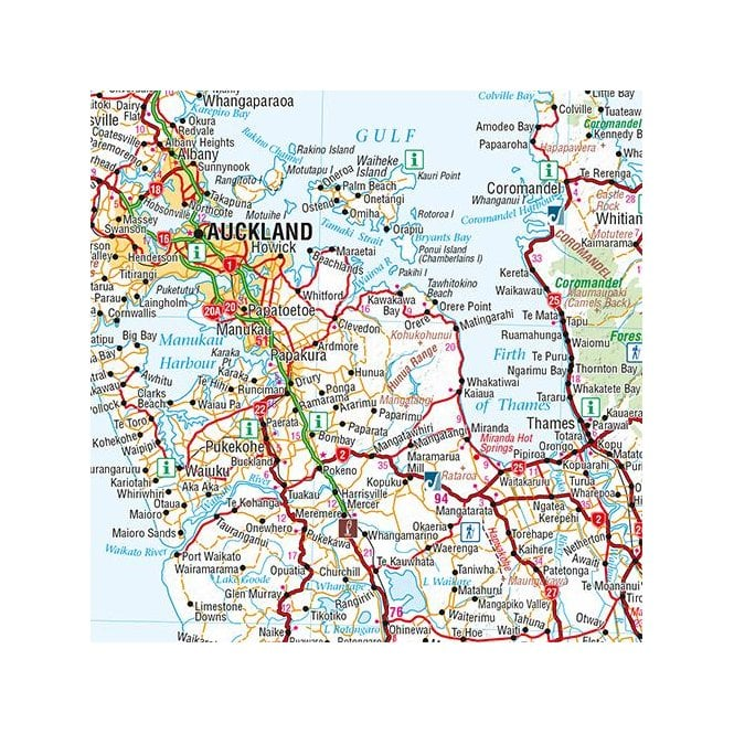 New Zealand North Map.New Zealand North Island Map