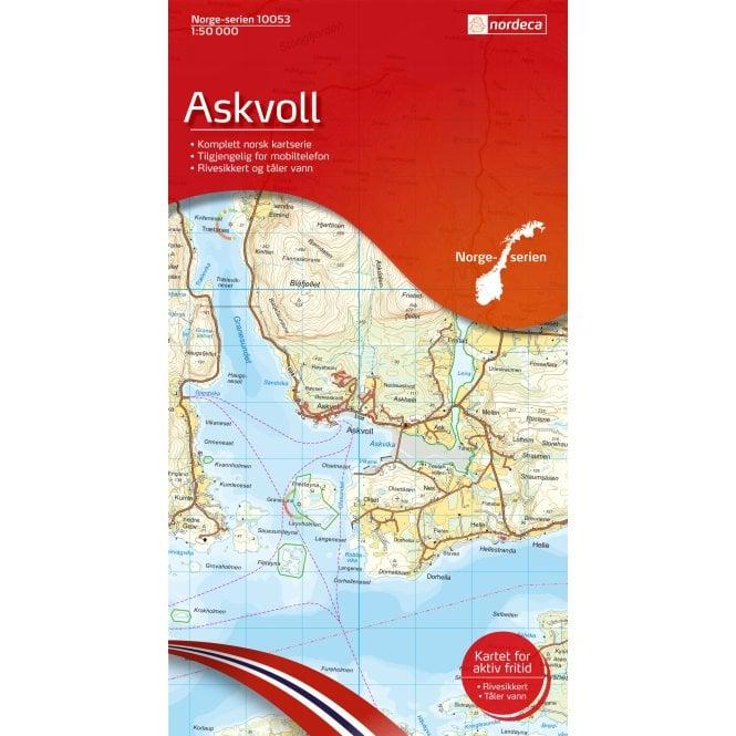 Askvoll Nordeca 50k Hiking Map 10053 Nordeca Norge Serien