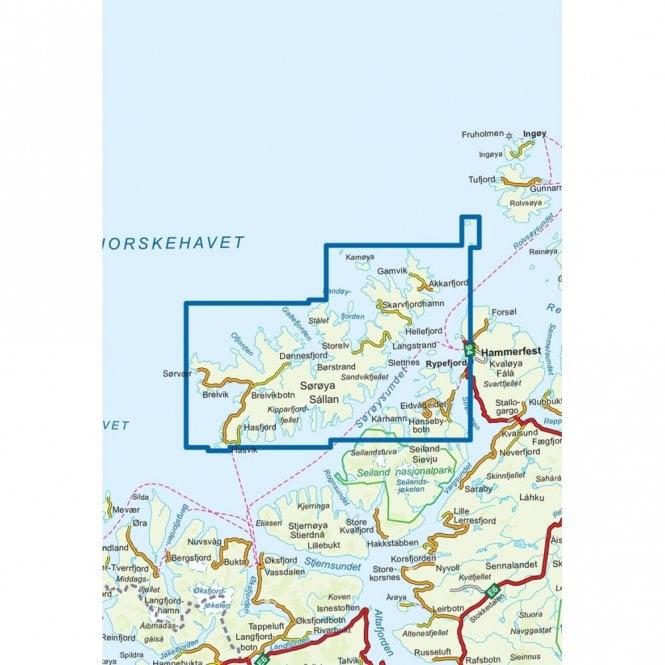 Soroya Nordeca Turkart Hiking Map 2635 With Tourist Information