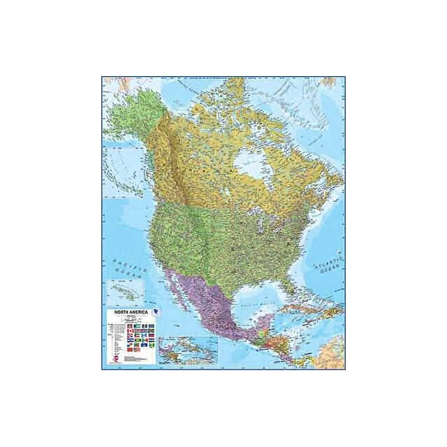 Hanging Wall Map on