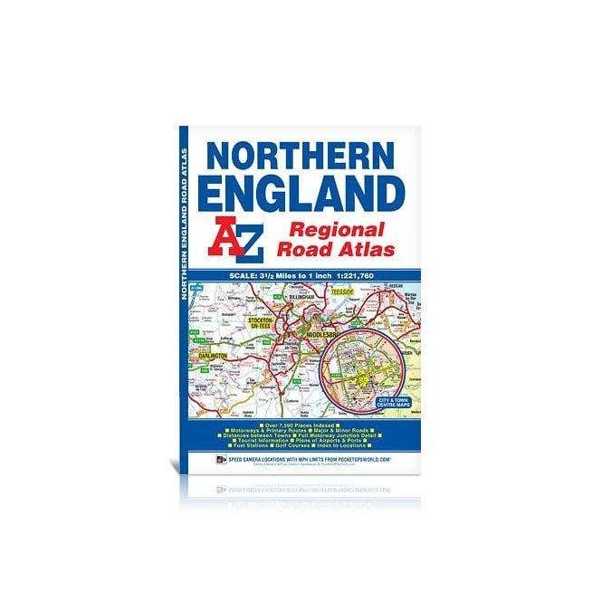 A Z Map Of England.Northern England Regional A Z Road Atlas