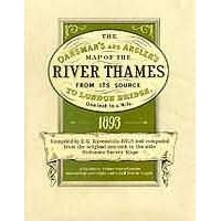 River Thames Map 1893: Oarsmans & Anglers Folded Map