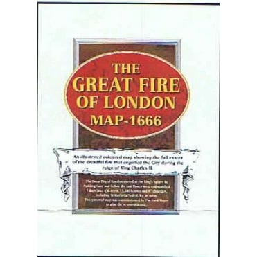The Great Fire of London Map 1666 Paper Wall Map