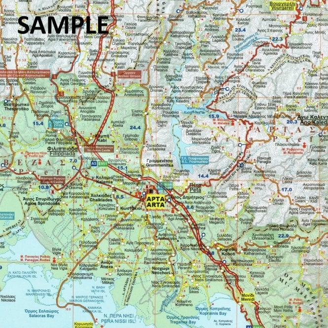 Western Crete Greece Tourist Road Map 89