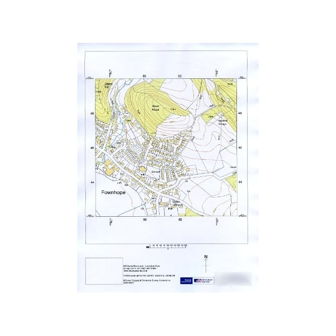 Ordnance Survey 1:5 000 Vector Map - site centred