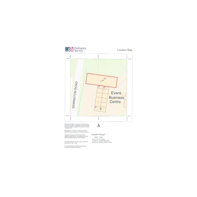 Ordnance Survey A4 Block Plan at 1:500 Scale for Planning Applications