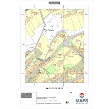 Ordnance Survey A4 Location Plan at 1:1 250 Scale for Planning Applications