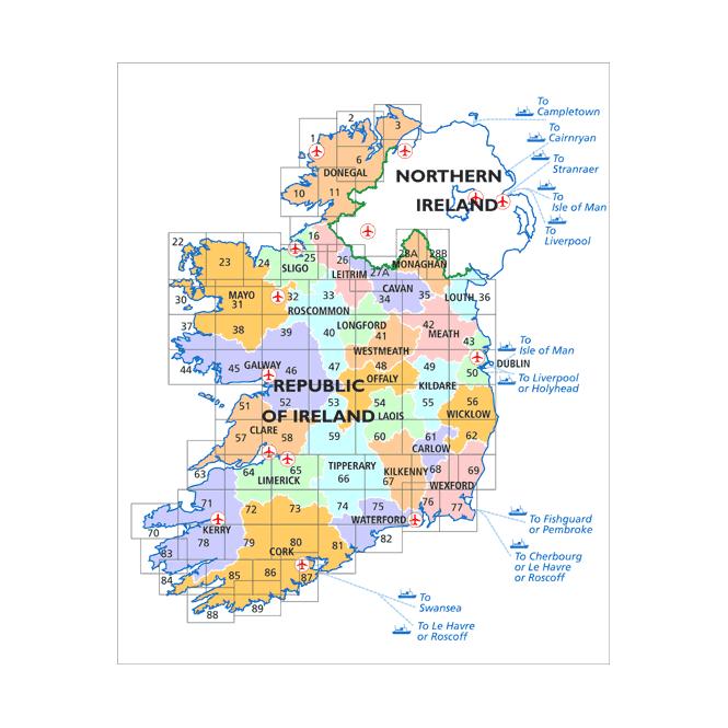 Map Of Ireland Cavan.Ordnance Survey Ireland Discovery Map 34 Cavan Leitrim
