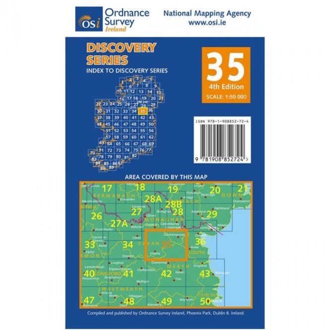 Discovery Map 35: Cavan Louth Meath Monaghan on