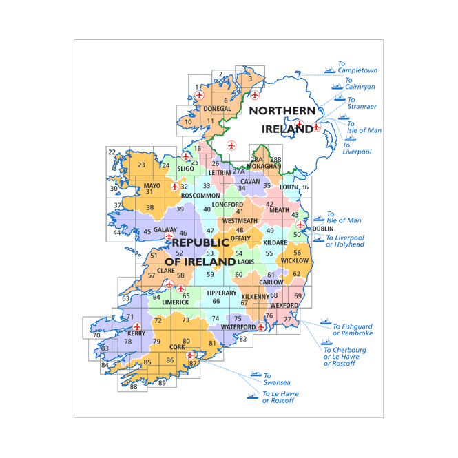 Carlow On Map Of Ireland.Discovery Map 62 Carlow Wexford Wicklow