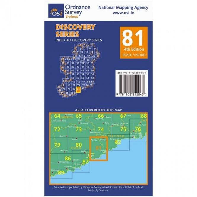 Map Of Waterford Ireland.Discovery Map 81 Cork Waterford