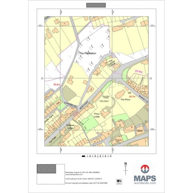Outdoor Site Maps Examples: Ordnance Survey Location Plan At 1:1 250 Scale A4 Full