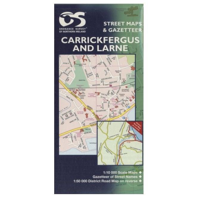 Street Map Of Ireland.Carrickfergus And Larne Street Map