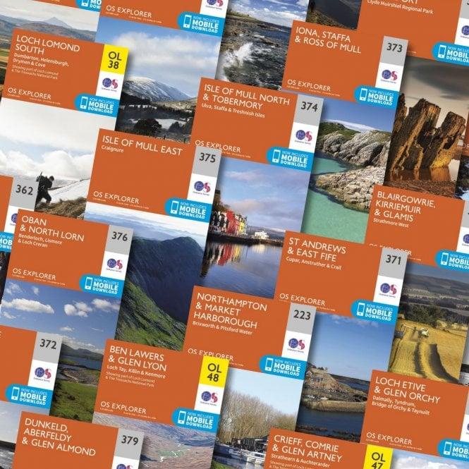 OS Explorer Wainwright's Coast-to-Coast Walk map set