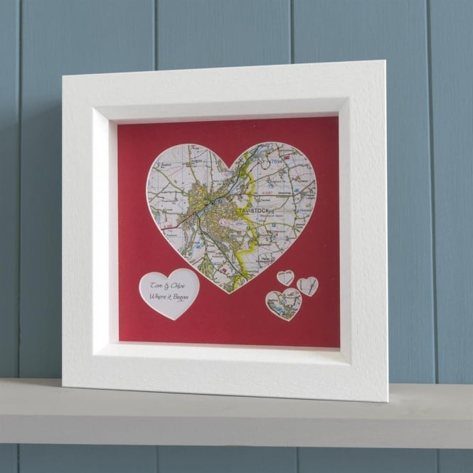 Personalised Map Heart Picture