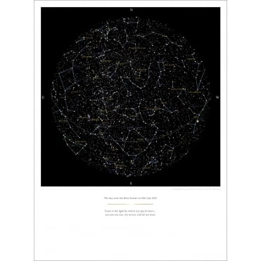 Personalised Stars At Night Poster