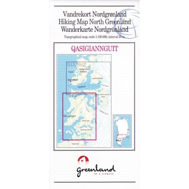 Qasigiannguit: North Greenland Hiking Map No. 17 (1:100 000)