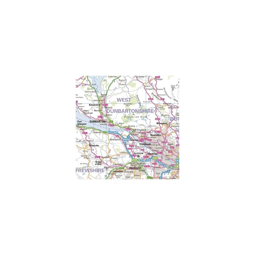 Regional Road Wall Map 2: Western Scotland & Western Isles